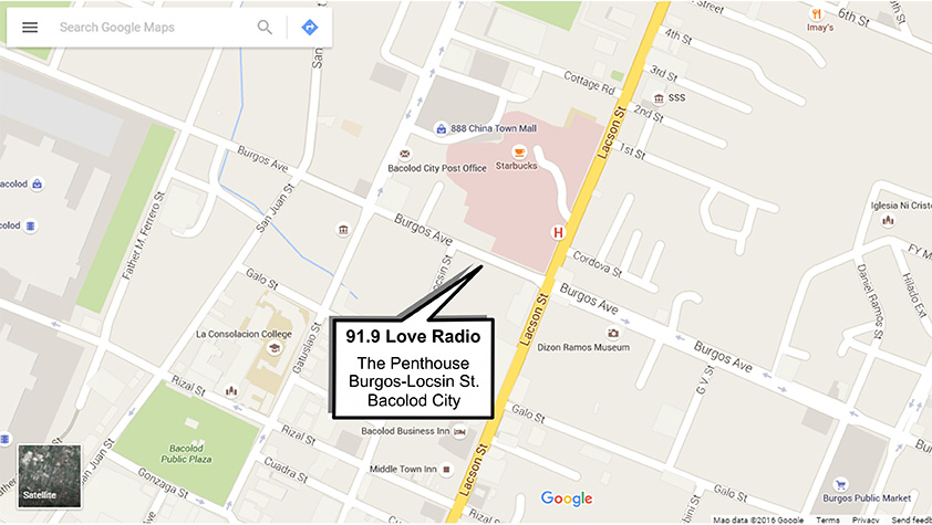 Love Radio Bacolod Contact Us - Bacolod map