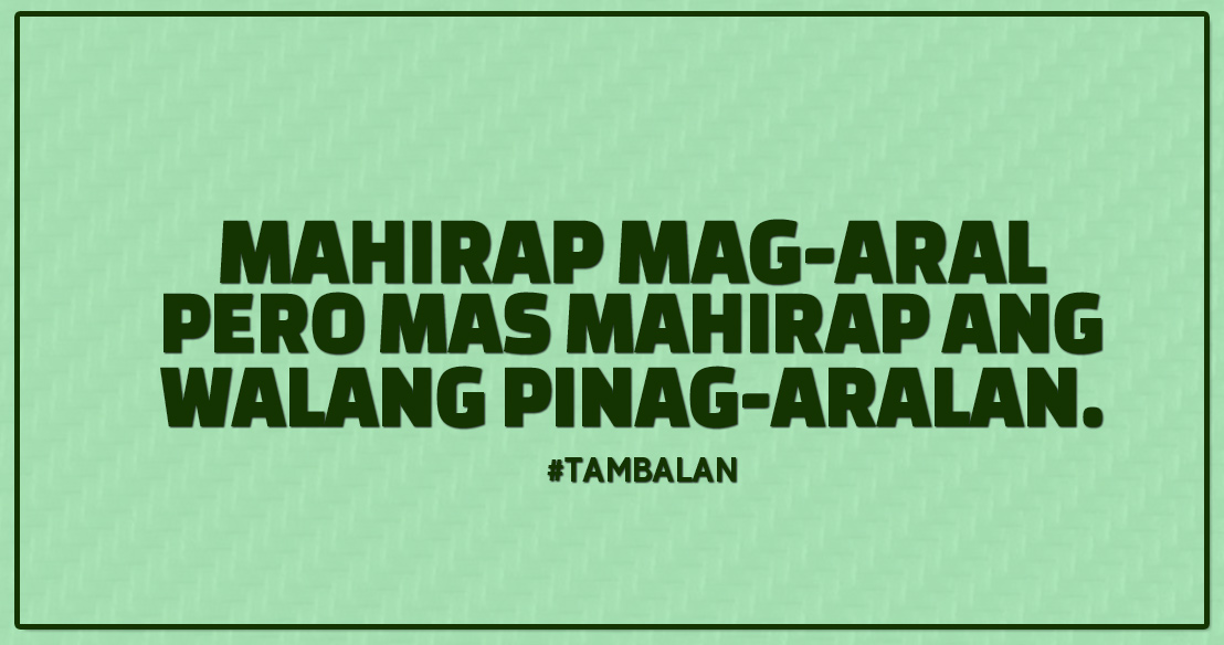 Moving Company Quotes >> Tambalan: Aral muna! - Love Radio Manila